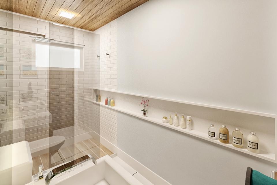 Casa Várzea  Projetos  Elementar Arquitetura  Avenida Domingos Ferreira, 4 -> Nicho Banheiro Portobello