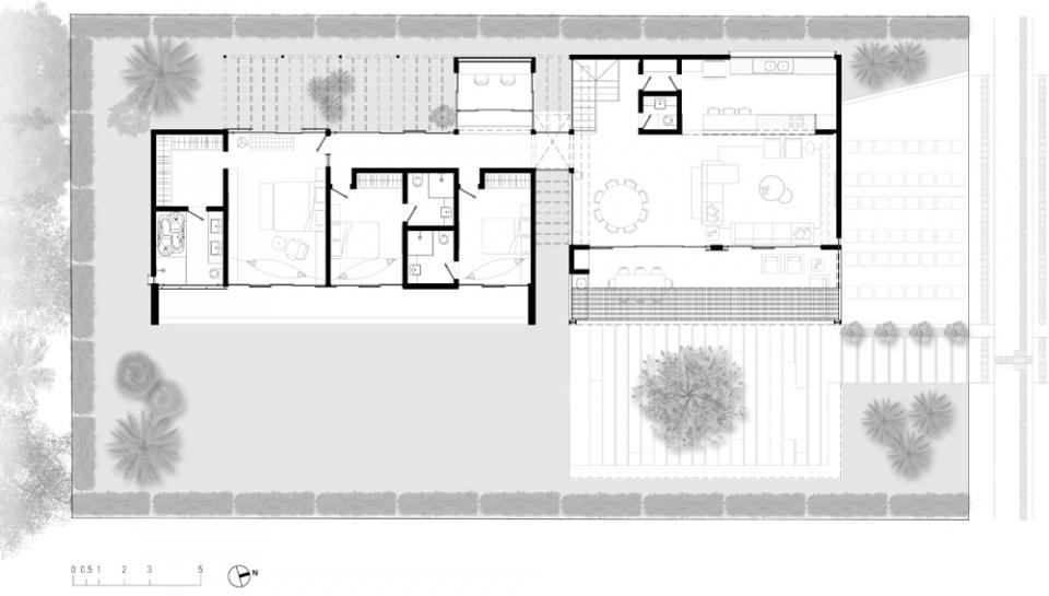 plantas jardim nordeste:Casa Alphaville Duo – Projetos – Elementar Arquitetura – Av. Visconde