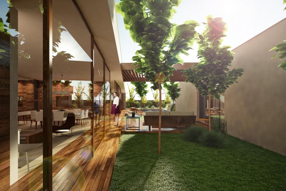 Casa alphaville p tio projetos elementar arquitetura for Casas con patio interior